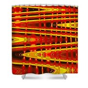 Moveonart Abstract Waves And Light Five Shower Curtain