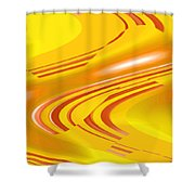 Moveonart Aerospace Voyager Shower Curtain