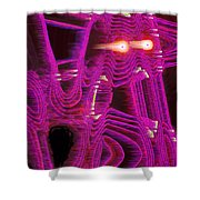 Moveonart Art Shocked By The Future One Shower Curtain