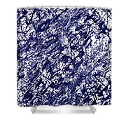 Moveonart Black And White Textured 2 Shower Curtain