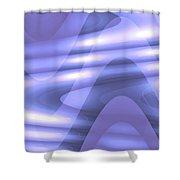 Moveonart Blu Wave Focus Shower Curtain
