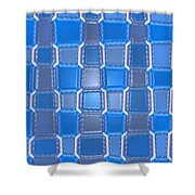 Moveonart  Blue Bricks Shower Curtain