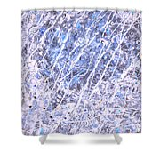 Moveonart Blue Cool Purifying Soul Shower Curtain