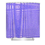 Moveonart Blue Cross Cords Shower Curtain