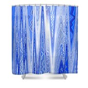 Moveonart Blue Dream Frequency Shower Curtain