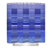 Moveonart Blue Program One Shower Curtain