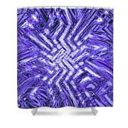 Moveonart Blue Shock Shower Curtain