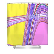 Moveonart Cheer Me Up Wave Shower Curtain