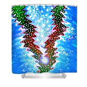 Moveonart Christmas 2009 Collection Victory Tree Shower Curtain