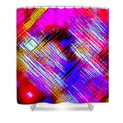 Moveonart Colorful Fast Paced Evening Shower Curtain