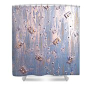 Moveonart Cool Blue Music Memory  Shower Curtain