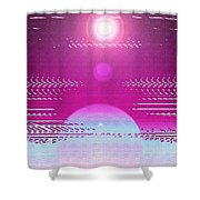 Moveonart Cosmic Centering II Shower Curtain