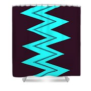 Moveonart Electricaqua Shower Curtain