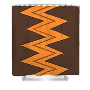 Moveonart Electricorange Shower Curtain