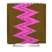 Moveonart Electricpink Shower Curtain