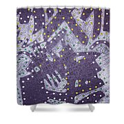 Moveonart Ex Communicated Shower Curtain
