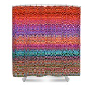 Moveonart Future Indian Voice Wave Quilt Shower Curtain