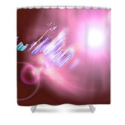 Moveonart Futuristic Cities Of Light Shower Curtain