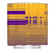 Moveonart Gold Data Shower Curtain