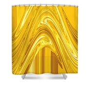 Moveonart Golden Light Wave Shower Curtain