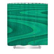 Moveonart Green Pathways 1 Shower Curtain