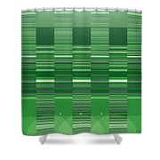 Moveonart Green Program Five Shower Curtain