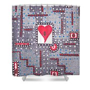 Moveonart Heart Connection Shower Curtain