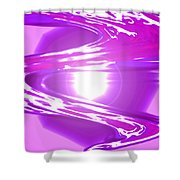 Moveonart I Call Forth The Violet Wave Shower Curtain