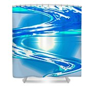Moveonart Impressive Wave Of Renewal Coming Shower Curtain
