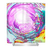 Moveonart In Light We Trust Shower Curtain