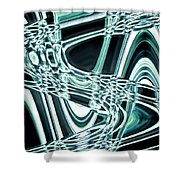 Moveonart Intentionally Abstract Movement Shower Curtain