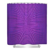 Moveonart Intentionally Intelligently Impressed Violet Therapy One Shower Curtain