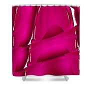 Moveonart Inverted Waves Bubbles And Light In Red Shower Curtain
