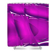Moveonart Inverted Waves Bubbles And Light In Violet 2 Shower Curtain