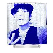 Moveonart Jacob Blue Shower Curtain