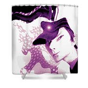 Moveonart Jacob In His Underground Art Gallery Shower Curtain