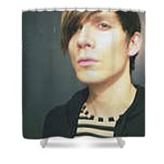 Moveonart Jacob Mod Stripes 2010 Shower Curtain