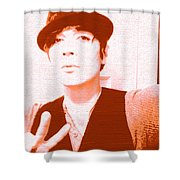 Moveonart Jacob Orange Shower Curtain