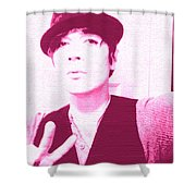 Moveonart Jacob Pink  Shower Curtain