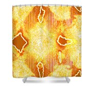 Moveonart Jagged Colored Enlightenment Three Shower Curtain
