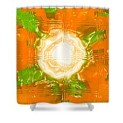 Moveonart Joy With Light In Orange Shower Curtain