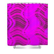 Moveonart Joyful Song Waves Forming  Shower Curtain