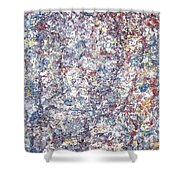 Moveonart Just Thinking Color Therapy With Texture Shower Curtain