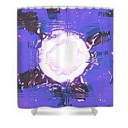 Moveonart Light Saturation With Blue Shower Curtain