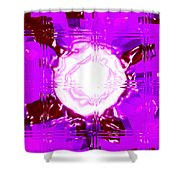 Moveonart Light Saturation With Pink Shower Curtain