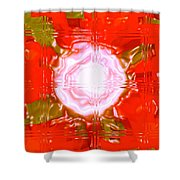 Moveonart Light Saturation With Red Shower Curtain