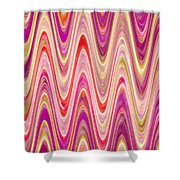 Moveonart Lively Waves Of Joy Shower Curtain