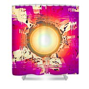 Moveonart May This Gift Of Light Help You Along Lifes Way Shower Curtain