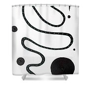 Moveonart Minimal Curves And Black Dots Shower Curtain