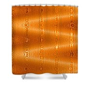 Moveonart Movement In Orange Shower Curtain